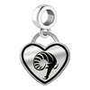 Rhode Island Rams Border Heart Dangle Charm