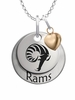 Rhode Island Rams with Heart Accent