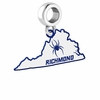 Richmond Spiders Logo Dangle Charm