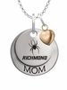 Richmond Spiders MOM Necklace with Heart Charm