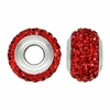 Ruby Red Swarovski Elements Crystal Bead