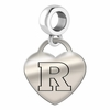 Rutgers Engraved Heart Dangle Charm