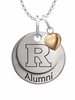 Rutgers Scarlet Knights Alumni Necklace with Heart Accent