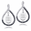 Rutgers Scarlet Knights Black and White Figure 8 Earrings