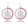 Rutgers Scarlet Knights Color CZ Circle Earrings
