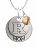 Rutgers Scarlet Knights MOM Necklace with Heart Charm