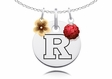 Rutgers Scarlet Knights Necklace with Flower Charm