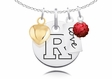 Rutgers Scarlet Knights Necklace With Heart, Color and Love