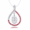 Rutgers Scarlet Knights Red CZ Figure 8 Necklace