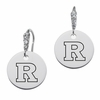 Rutgers Scarlet Knights Round CZ Cluster Earrings