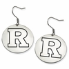 Rutgers Scarlet Knights Satin Finished Disc Earrings