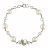 Rutgers Sterling Silver Tin Cup Heart Bracelet