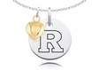Rutgers Scarlet Knights Charm With Heart
