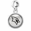 Saginaw Valley State Cardinals Border Round Dangle Charm