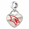 Saginaw Valley State Cardinals Color Heart Dangle
