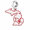 Saginaw Valley State Cardinals Logo Dangle Charm