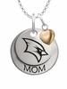 Saginaw Valley State Cardinals MOM Necklace with Heart Charm