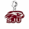 Saint Joseph Hawks Silver Logo and School Color Drop Charm