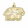 Saint Joseph's Hawks 14K Yellow Gold Natural Finish Cut Out Logo Charm