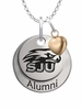 Saint Joseph's Hawks Alumni Necklace with Heart Accent