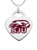 Saint Joseph's Hawks Logo Heart Pendant With Color