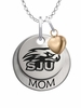 Saint Joseph's Hawks MOM Necklace with Heart Charm