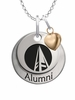 Schoolcraft Ocelots Alumni Necklace with Heart Accent
