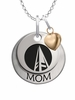 Schoolcraft Ocelots MOM Necklace with Heart Charm