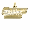 Salem State Vikings 14K Yellow Gold Natural Finish Cut Out Logo Charm
