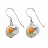 Salem State Vikings Color and Freshwater Pearl Earrings