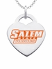Salem State Vikings Color Logo Heart Charm