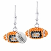 Salem State Vikings Crystal Football Earrings