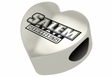 Salem State Vikings Heart Shape Bead
