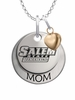 Salem State Vikings MOM Necklace with Heart Charm