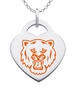 Sam Houston State Bearcats Logo Heart Pendant With Color