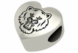 Sam Houston State Bearkats Heart Shape Bead