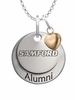 Samford Bulldogs Alumni Necklace with Heart Accent