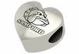 Samford Bulldogs Heart Shape Bead