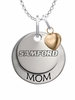 Samford Bulldogs MOM Necklace with Heart Charm