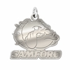 Samford Bulldogs Natural Finish Charm