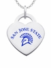 San Jose State Spartans Color Logo Heart Charm