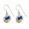 Seton Hall Pirates Color and Freshwater Pearl Earrings