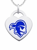 Seton Hall Pirates Logo Heart Pendant With Color