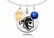 Seton Hall Pirates Necklace with Heart and Crystal Accents