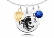 Seton Hall Pirates Necklace With Heart, Color and Love