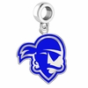 Seton Hall Pirates Silver Logo and School Color Drop Charm