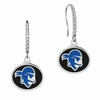 Seton Hall Pirates Sterling Silver and CZ Drop Earrings