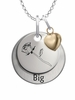 Sigma Alpha Iota BIG Necklace with Heart Accent