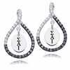 Sigma Alpha Iota Black and White Figure 8 Earrings