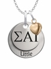 Sigma Alpha Iota LITTLE Necklace with Heart Accent